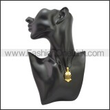 Rubber Necklace W Stainless Steel Clasp n003191HG