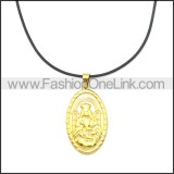 Rubber Necklace W Stainless Steel Clasp n003174HG2