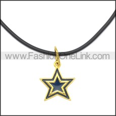 Rubber Necklace W Stainless Steel Clasp n003196HG