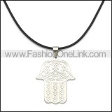 Rubber Necklace W Stainless Steel Clasp n003176HS1