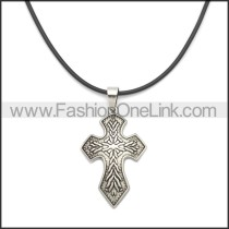 Rubber Necklace W Stainless Steel Clasp n003188HS