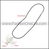 Rubber Necklace W Stainless Steel Clasp n003178HS1