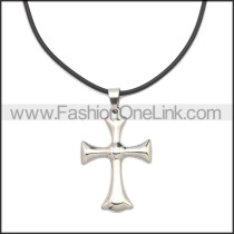 Rubber Necklace W Stainless Steel Clasp n003182HS