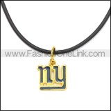 Rubber Necklace W Stainless Steel Clasp n003194HG