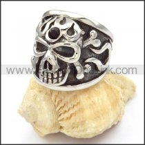 Stainless Steel Punk Design Skull Ring r000476