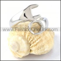 Stainless Steel Silver Wrench Design  Ring r000300
