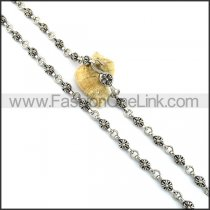 Silver Casting Flower Necklace n001080