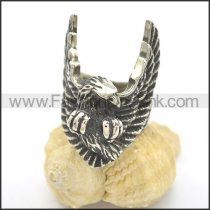 Unique Stainless Steel Eagle Biker Ring r002431