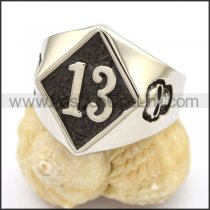 Stainless Steel Biker Ring  r002779