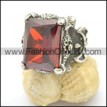 Vintage Stone Stainless Steel Ring  r002498