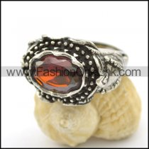 Vintage Stone Stainless Steel Ring  r002493