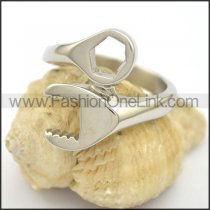 Stainless Steel Biker Ring  r002780