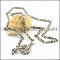 Exquisite Interlocking Flower Casting Necklace n000750