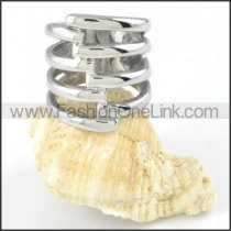 Stainless Steel Spiral Design Ring r000157
