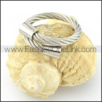 Stainless Steel Classic Design Rope Ring r000556