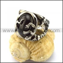 Delicate Stainless Steel Stone Ring r002864