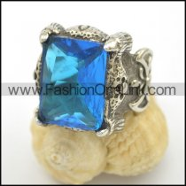 Vintage Stone Stainless Steel Ring   r002499