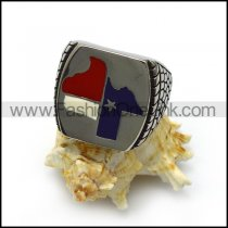 Texas Stainless Steel Ring r005059