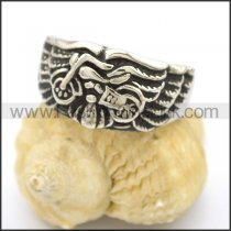 Stainless Steel Biker Ring   r002768