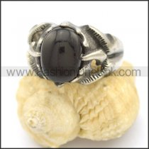Vintage Stone Stainless Steel Ring  r002483