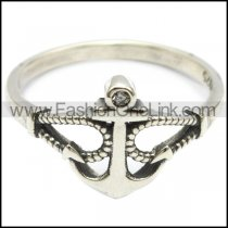 sterling silver anchor ring r006303