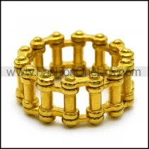 24K Gold Plating Motorcycle Chain Ring for Bikers r005233