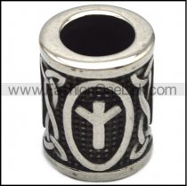 Runes Stainless Steel Beard Beads a000868