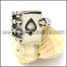Holding Ace of Heart Casting Ring  r001021