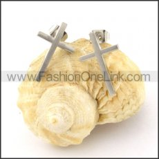 Exquisite Stainless Steel Cross Earrings  e000358