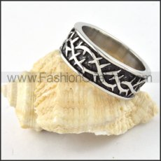 Stainless Steel Vintage Design Ring r000305
