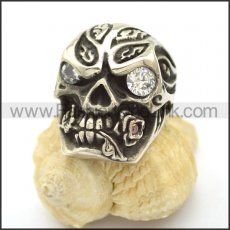 Unique Skull Stainless Steel Ring  r002464