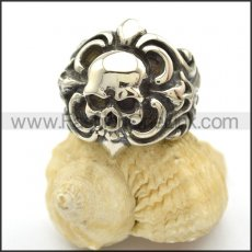 Unique Skull Stainless Steel Ring r002458