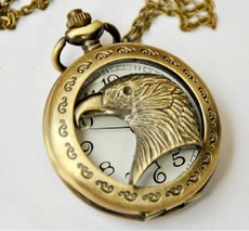 Vintage Goshawk Head Pocket Watch Chain PW000067