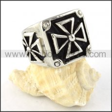 World War Germany Cross Stainless Steel ring r000310