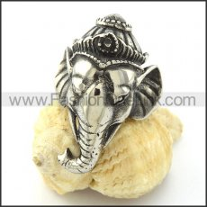 Thailand  Casting Long Nose Elephant Ring r001034