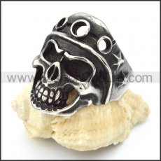 Stainless Steel Punk Style Skull Ring r000317