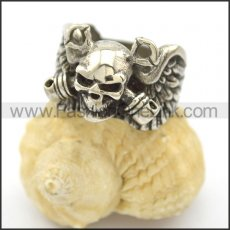 Unique Skull Stainless Steel Ring r002454