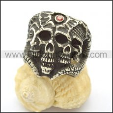 Unique Skull Stainless Steel Ring  r002470
