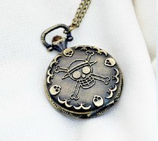 Antique Skull Pocket Watch Chain PW000009