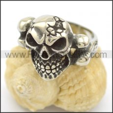Unique Skull Stainless Steel Ring r002455