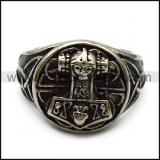 stainless steel casting thor hammer ring for viking r005242