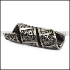 viking stainless steel rune beard bead ring for mens​ a000596