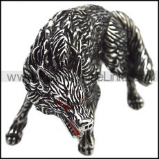 Solid Stainless Steel Wolf Accessory Decoration a000933