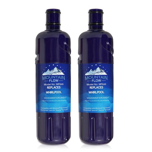 W10413645A W10238154 Refrigerator Water Filter, Replacement for Whirlpool Filter 2, EDR2RXD1, Kenmore 9082(2-PACKS)