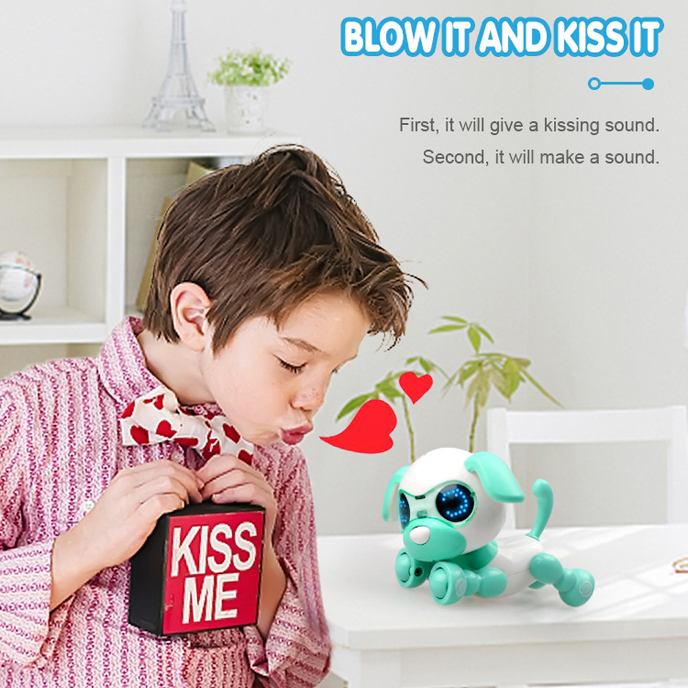 Smart Interactive Puppy Robotic Dog LED Eyes Sound Recording Sing Sleep Gift Toy