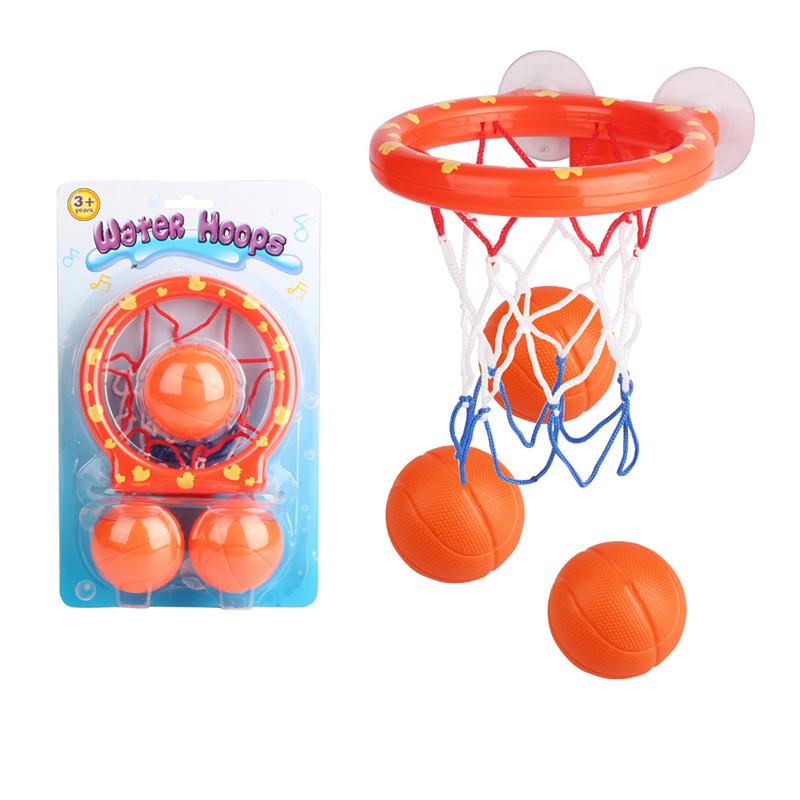 Bath Toy Fun Bath Basketball Hoop /& Balls Set for Kids Toddler with 3 Balls,Bathtub Shooting Game for Little Boys Girls Orange