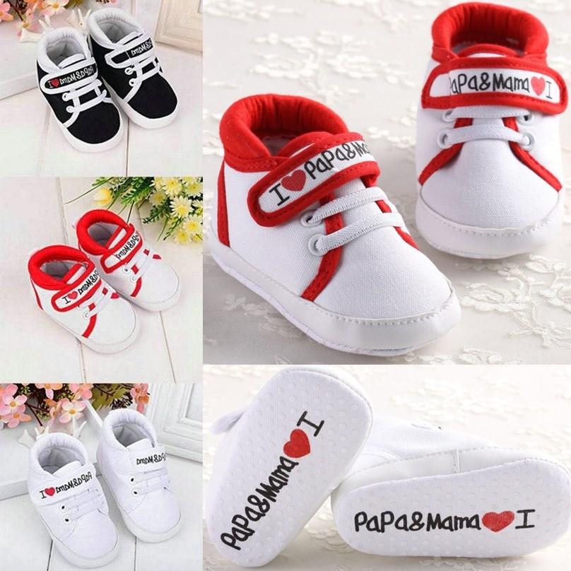 1 pair Newborn Kids Girl Boy Cloth Soft Crib Toddler Shoes Canvas Sneaker
