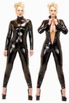 plus size leather vinyl  catsuit 1021