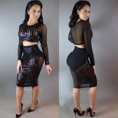 N256 sexy sequin dress