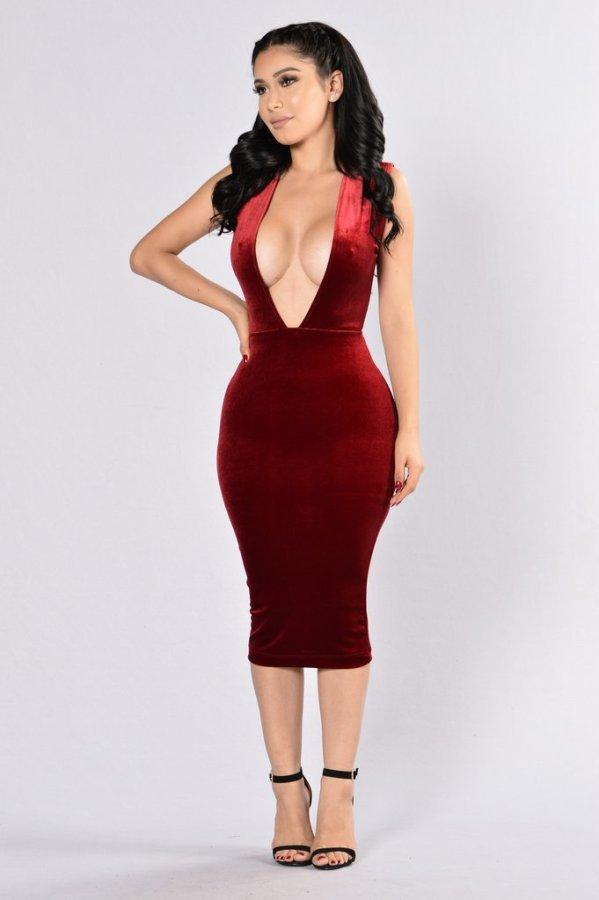 N296 sexy velvet dress